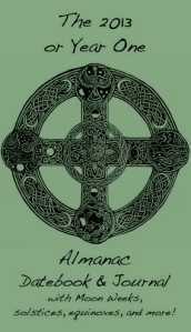 Almanac with celtic cross envisioned by Jean, drawn by Asante Riverwind